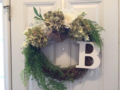 Flower Door Wreath DIY - less than 10 minutes!!