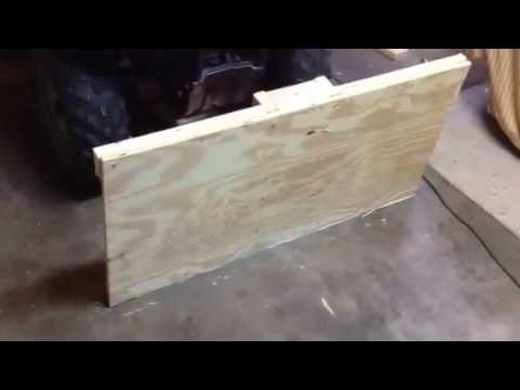 Homemade atv plow part 2