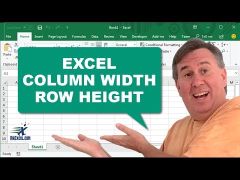 Learn Excel - Column Width and Row Height: Podcast #1393