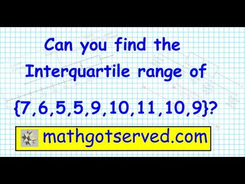 How to find the Range Median Interquartile Range Box and Whisker Quartiles Plot Statistics