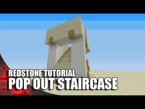 Minecraft: Pop Out Staircase (3 Wide)