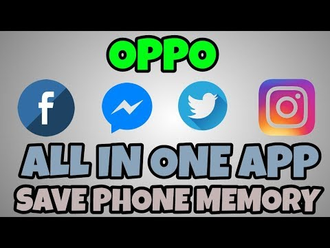 Oppo All In One App Save Storage Delete Facebook,Instagram,Twitter & Messanger