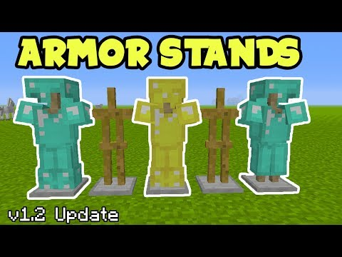 ARMOR STANDS CONFIRMED in Minecraft Pocket Edition 1.2 Update // Minecraft PE Armour Stand Gameplay