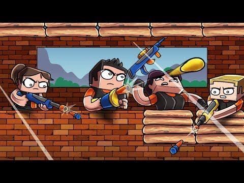 Minecraft - NERF BATTLE ROYALE CHALLENGE! (Fortnite with NERF GUNS)