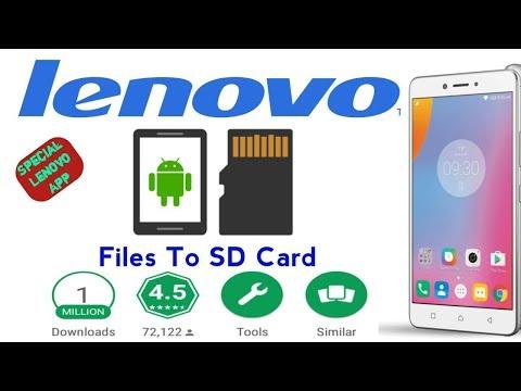 Lenovo Smartphone File Manager Transfer to SD Card