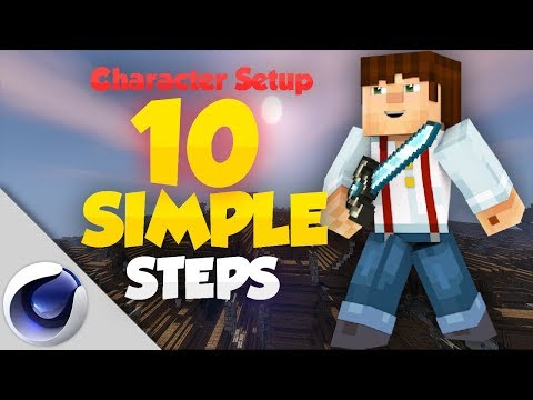 Set Up your First Character Rig - Minecraft Cinema4D Tutorial