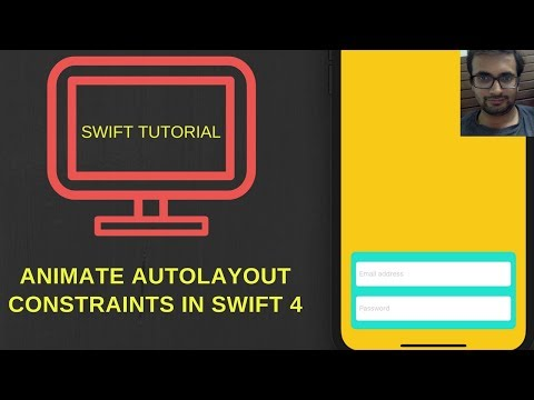 Animate constraint in swift - Tutorial