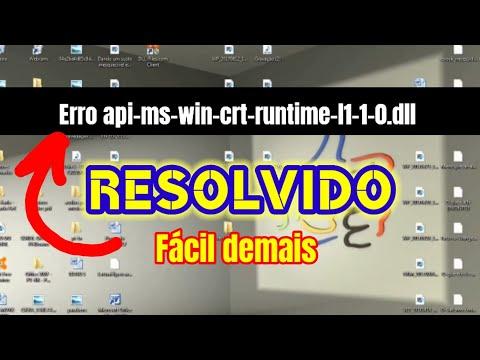 Solução fácil Erro api-ms-win-crt-runtime-l1-1-0.dll [Correção de erros dll]