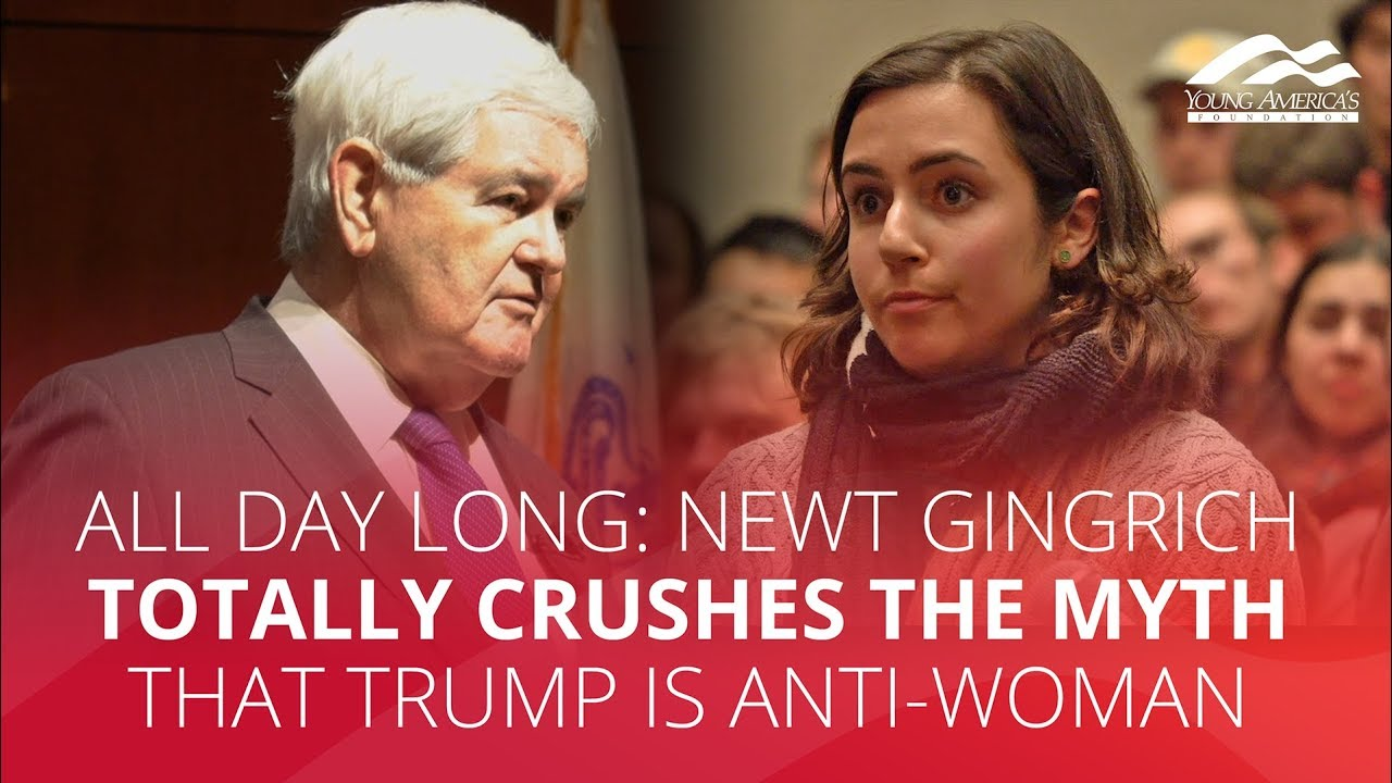 ALL DAY LONG: Newt Gingrich totally CRUSHES the myth that Trump is anti-woman
