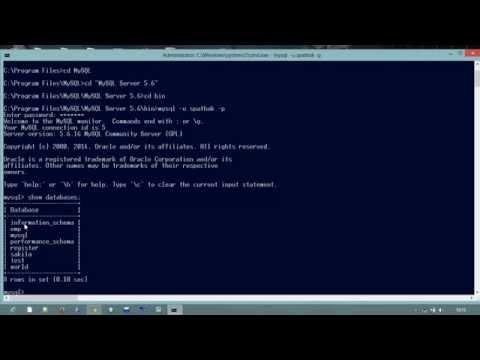 Beginners  MySQL Server Starting From cmd