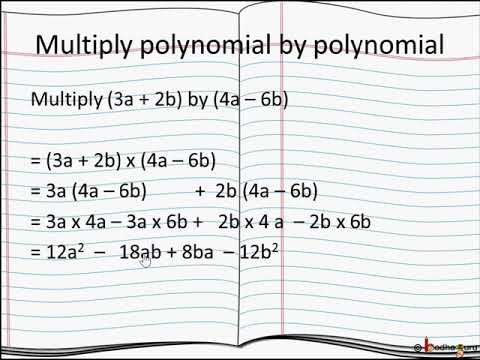 बीजगणितीय गुणा - भाग 2 – How to multiply a polynomial with polynomial – in Hindi