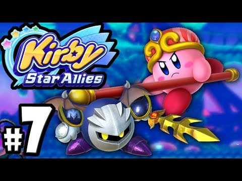 Kirby Star Allies - 2 Player Co-Op! - Switch Gameplay Walkthrough PART 7: Meta Knight & Staff Copy