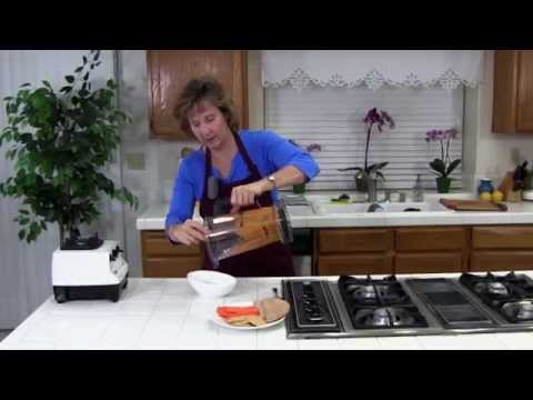 Make Fresh Red Pepper Hummus! An Easy, Healthy, Fast, Delicious Hummus Recipe!