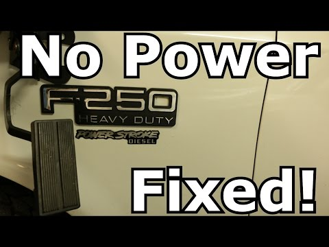 F-250 Powerstroke No Throttle Fix!