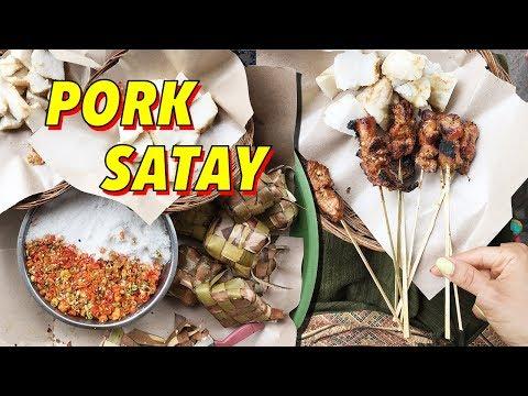 Sate Babi - Pork Satay ♦ Street Food in Bali (TRAVEL VLOG)