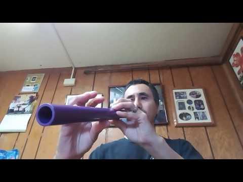 Native American style purple PVC flute