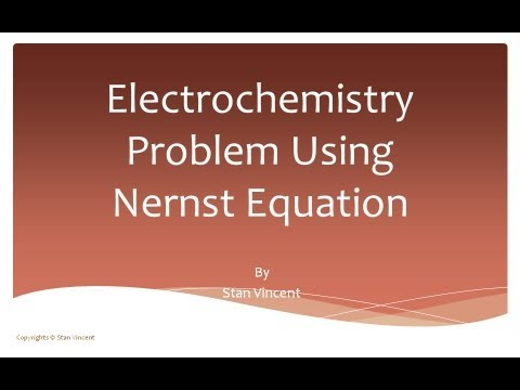 Nernst Equation Problem | EMF | Electrochemical Cell | Redox Reactions |