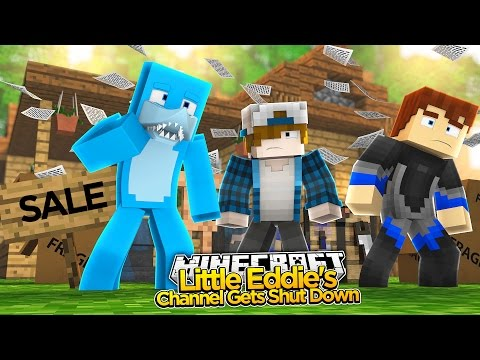 Minecraft - LITTLE EDDIE'S HOUSE IS REPOSSESSED!!! Sharky & Scuba Steve Adventures