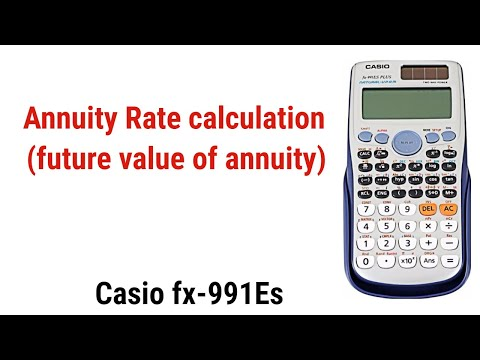 Annuity Rate calculation of future value annuity by Calculator