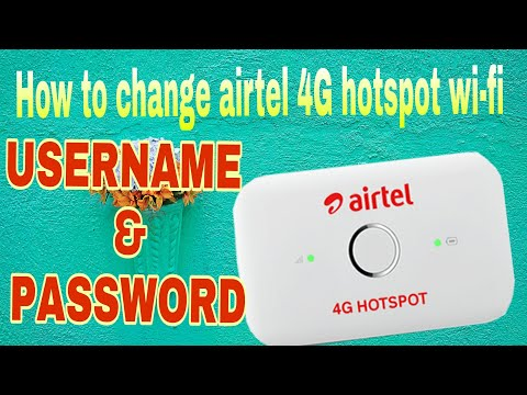 How to change airtel 4G wifi Dongle username and password 13K views
