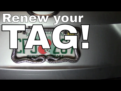 Vehicle/Car Tag Registration Renewal-License Plate Tag--How to  🚘