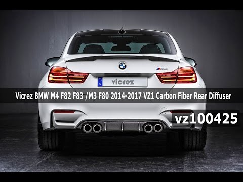 Vicrez BMW M4 F82 F83 /M3 F80 2014-2017 VZ1 Carbon Fiber Rear Diffuser vz100425