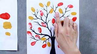 EASY FINGER PAINTING IDEAS / FINGERPRINT IDEAS