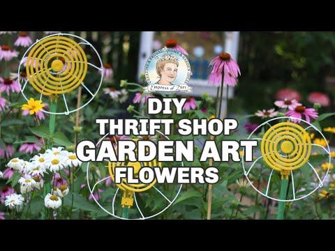 Easy Thrift Shop Garden Art Flowers