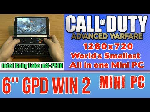 GPD WIN 2 Call of Duty: Advanced Warfare on Handheld Mini PC - 256 GB SSD 8GB RAM m3-7Y30 HD 615