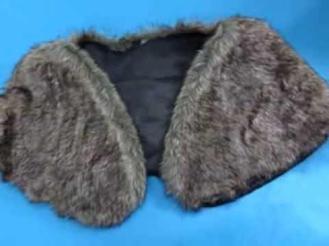 wholesale faux Fur Wrap Stole Cape Shrug Wedding Bridal WholesaleSarong.com
