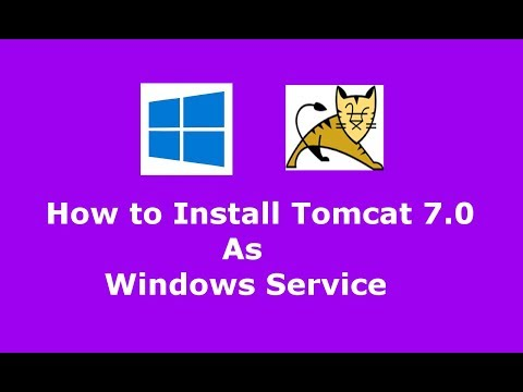 How to install Apache Tomcat 7.0.79 as Windows service and Uninstall