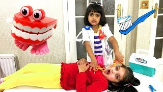 Ashu and Cutie Pretend Play Dentist with Doctor Toys Playset like Wendy