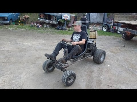 Lawn Tractor Go kart Walk Around