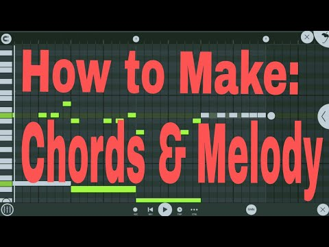 How to make a Melody in Fl Studio Mobile | Free FLM | How to Make chords and Melody.