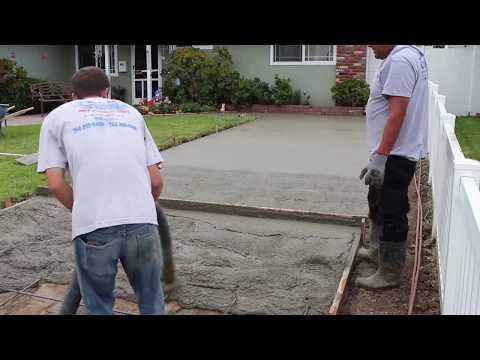 How to make a Concrete RV Driveway