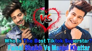 Mr.Faisu Vs Manjul Khattar Best Tiktok Music Battle_Who is the best Tiktok Superstar.