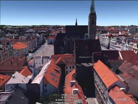 Google Earth Pro: rotating the center of Pilsen