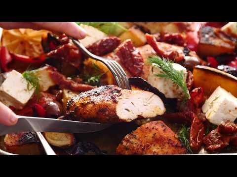 Best Easy Greek Sheet Pan Chicken Souvlaki and Potatoes