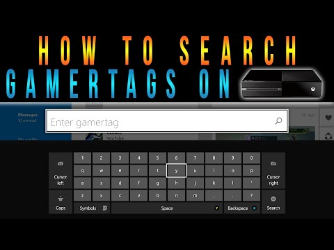 Xbox One - How To Search Gamertags