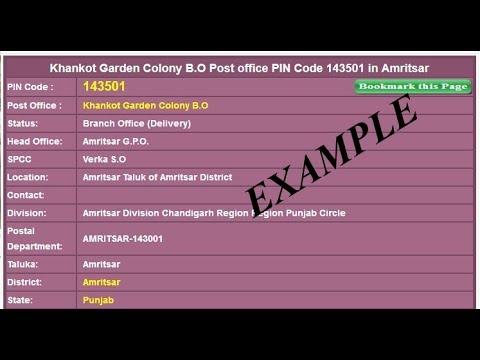 Find ZIP & PIN Postal Code | INDIA