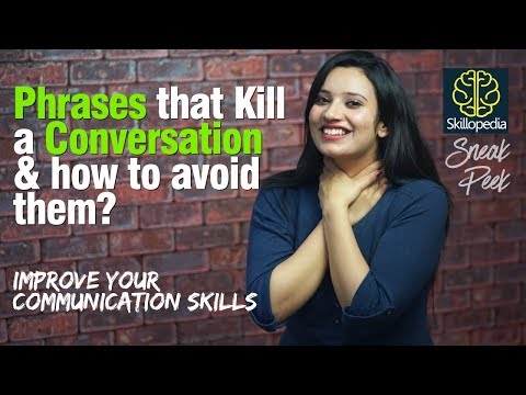 What Killed my conversation? Communication Skills & Public speaking Training