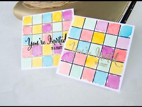 DIY Party Invitations / Watercolor Party Invitations