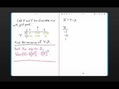 Variance of the Difference of two Jointly Distributed Discrete Random Variables.
