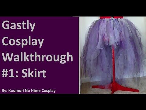 CosThrough: Gastly Gijinka Tutorial Part 1: Skirt