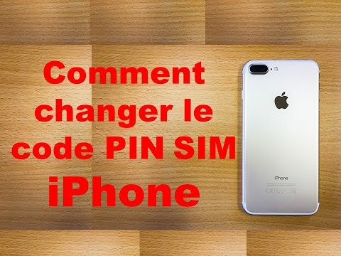 Comment changer le code PIN SIM iPhone