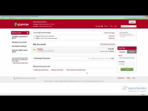 How to export St George bank online transactions for Xero