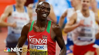 Timothy Cheruiyot is all smiles en route to 1500m crown | NBC Sports