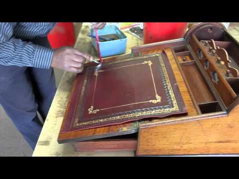 How to fit a desk leather 1