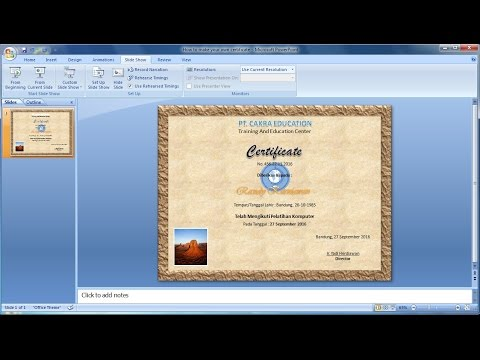 PowerPoint Training |How to make your own certificate in Powerpoint|Learn ms Powerpoint easily