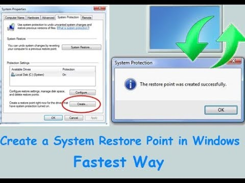 How to Create a System Restore Point in Windows 7 /8/ 8.1/ 10 (Fastest Way)